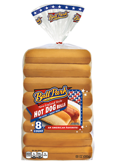 An 8-count package of New England Hot Dog Rolls